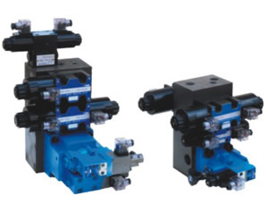 Hydraulic systems Double pump double proportional valve